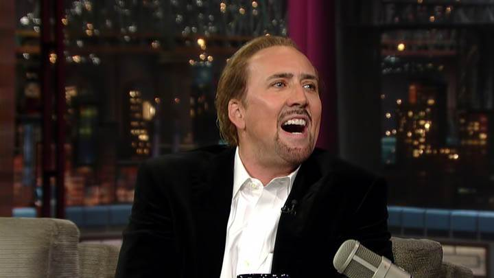 Nicolas Cage Laughing On A Show