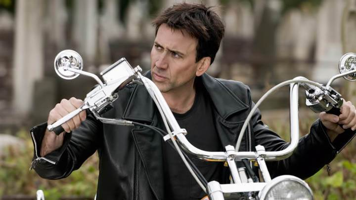 Nicolas Cage On Bike