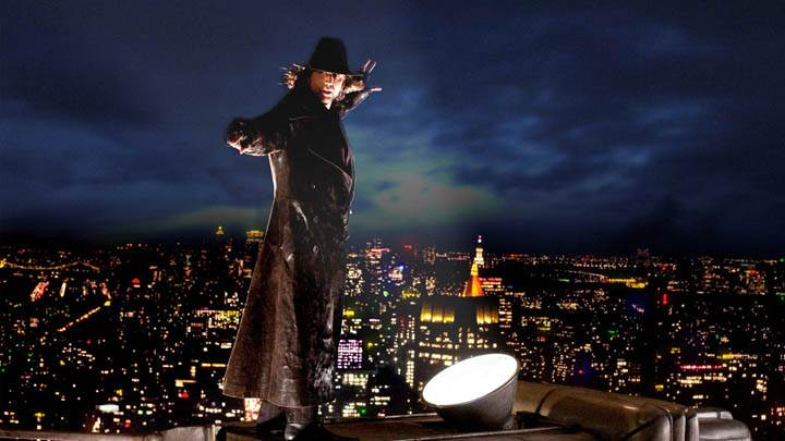 Nicolas Cage Standing On Top Of A Building