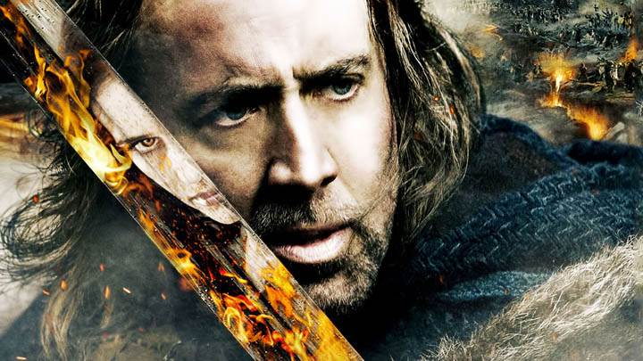 Nicolas Cage With Sword in Season of the Witch