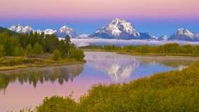 Oxbow Bend of the Snake River and Mount Moran