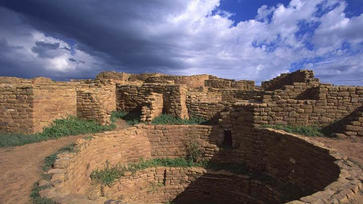 Pueblo Indian Dwellings, Built Around 1200 A.D.