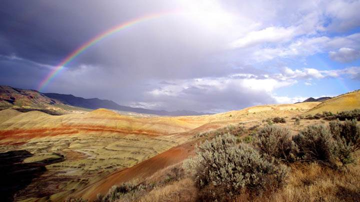 Rainbow Over the Painted Hills