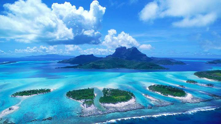 Reefs of Bora Bora, French Polynesia