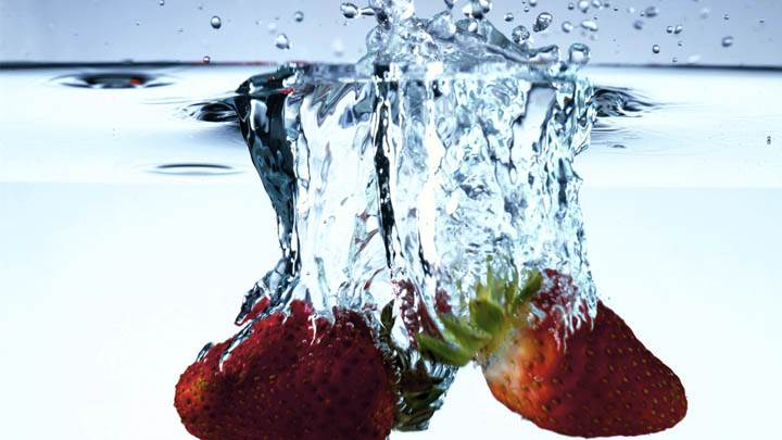 Strawberries in Water