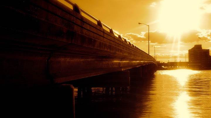 Sunset View Of Bridge
