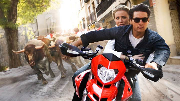 Tom Cruise – Driving Bike