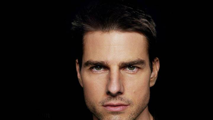 Tom Cruise – Face Closeup Black Background