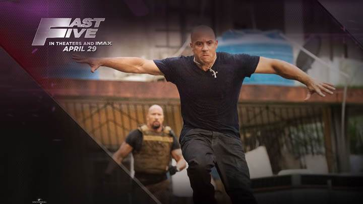 Vin Diesel Running in Fast Five