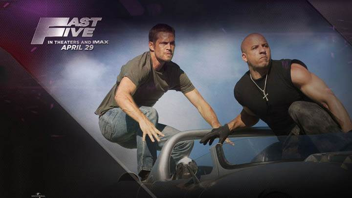 Vin Diesel and Paul Walker – Riding on Car