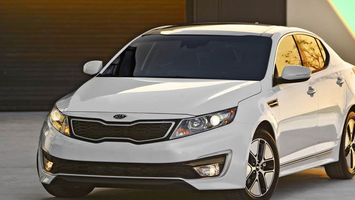 White Color Kia Optima