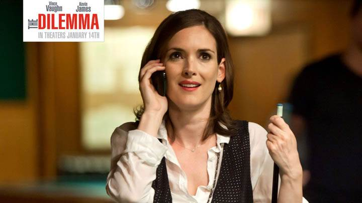 Winona Ryder on Phone in The Dilemma