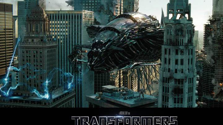 Attacking The City in Transformers 3 Dark of the Moon