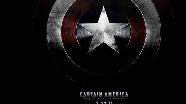 Captain America Logo On Shield