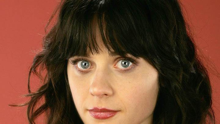 Cute Face Closeup Of Zooey Deschanel