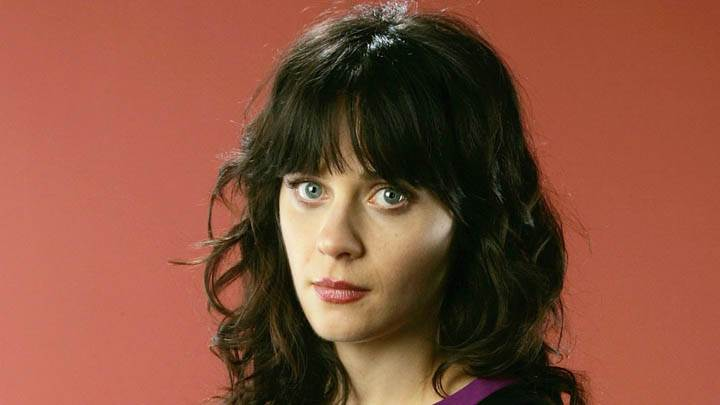 Face Closeup Of Zooey Deschanel