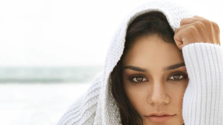 Face Closeups Vanessa Hudgens White Dress