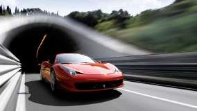 Ferrari 458 Italia Running on Highway