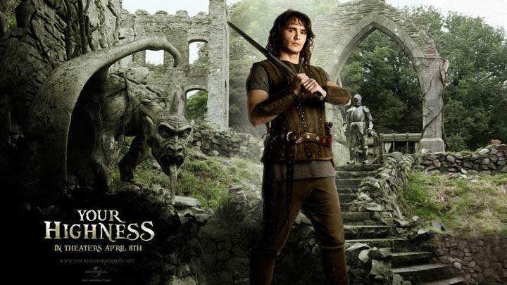 James Franco With Sword in Your Highness