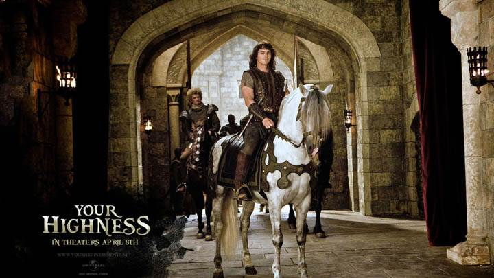 James Franco on Horse in Your Highness