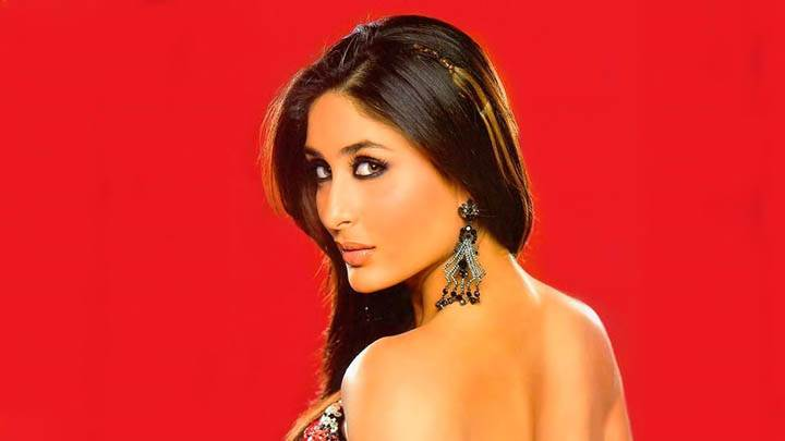 Kareena Kappor – Looking Back, Red Background