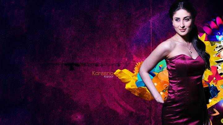 Kareena Kappor – Smiling And Abstract Wallpaper