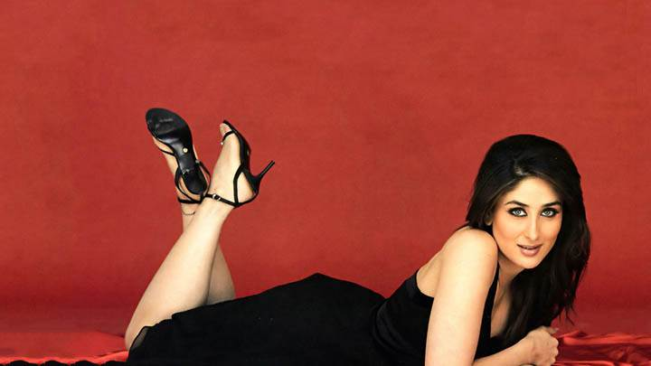 Kareena Kappor – Smiling And Laying In A Black Dress