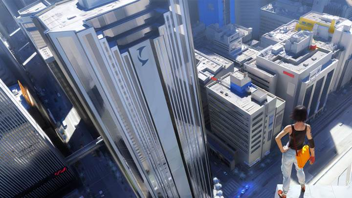 Mirrors Edge – Faith Standing on Top of a Building