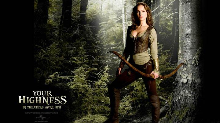 Natalie Portman Standing in Jungle in Your Highness