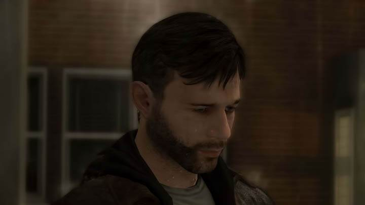 Sad Face of Ethan Mars in Heavy Rain