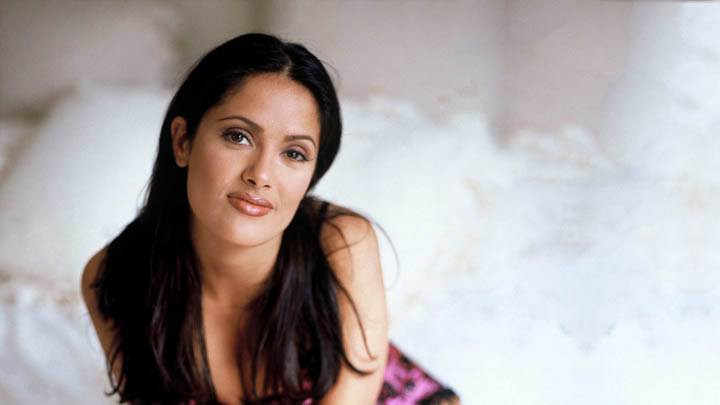 Salma Hayek – Sitting And Smiling In Front Of Camera