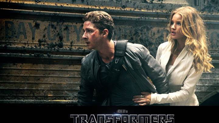 Shia LaBeouf and Rosie Huntington-Whiteley in Transformers Dark of the Moon