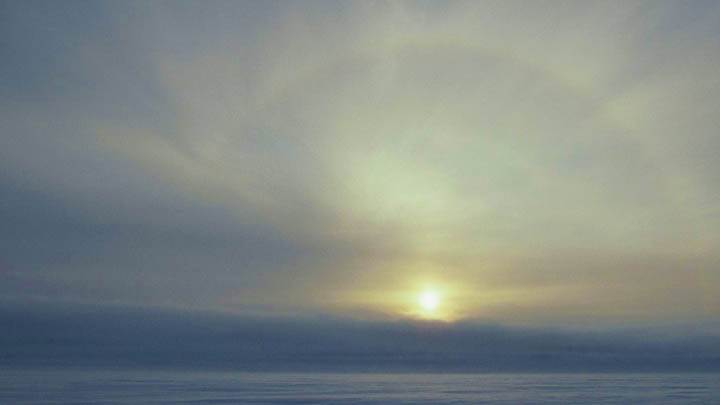 Solar Ice Bow Over Water, Lancaster Sound