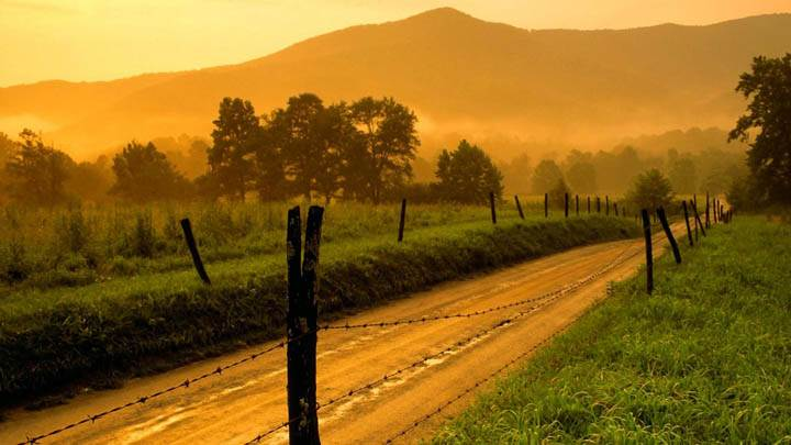 Sparks Lane at Sunset, Cades Cove