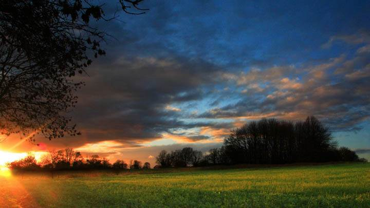 Sunset Near Oxted, Surrey, England