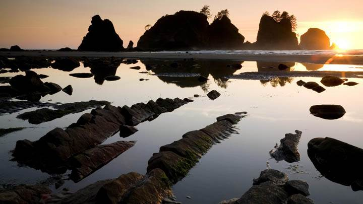 Sunset Over Point of the Arches, Shi Shi Beach