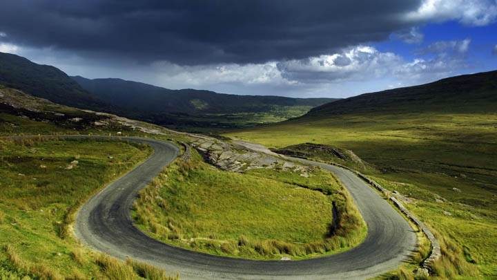 The Street of the Ring of Beara Crosses the Healy Pass