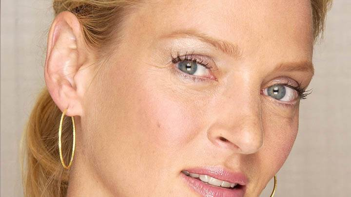 Uma Thurman Cute Eyes And Face Closeup