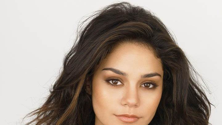 Vanessa Hudgens Looking Front In White Dress Face Closeups