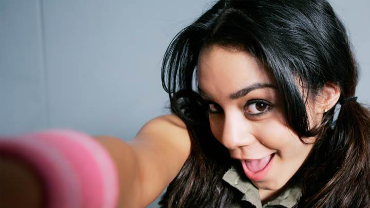 Vanessa Hudgens Sitting Pose Smiling Face