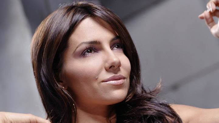 Vanessa Marcil Face Closeup Saying Something