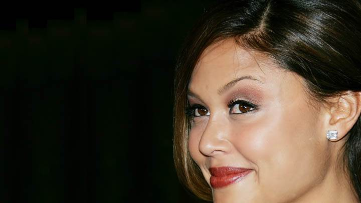 Vanessa Minnillo Red Lips Side Face Closeups