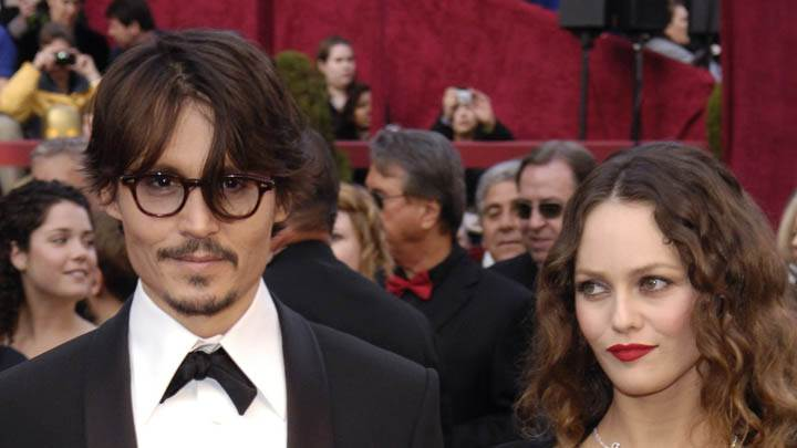 Vanessa Paradis & Johnny Depp Smiling Face Closeups