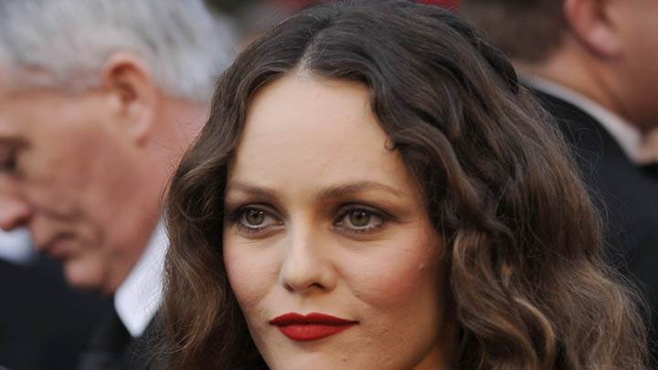 Vanessa Paradis Red Lips Face Closeups
