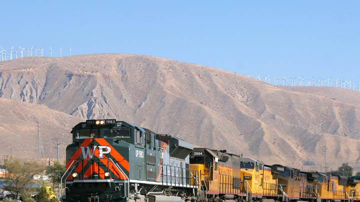 Western Pacific Passes Through Cabazon, California