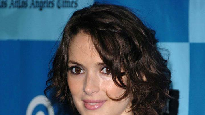 Winona Ryder Pink Lips Smiling Face Closeups