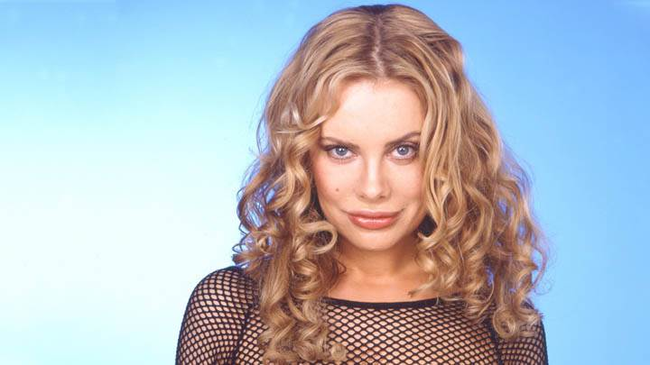 Xenia Seeberg In Black Transparent Net Dress Closeups