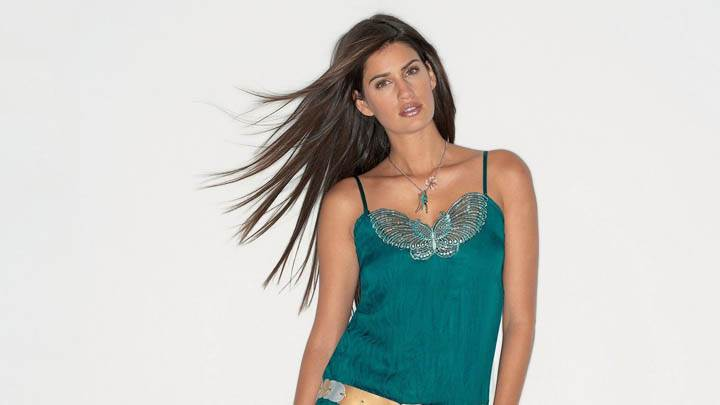 Yamila Diaz Photoshoot Wearing A Green Top
