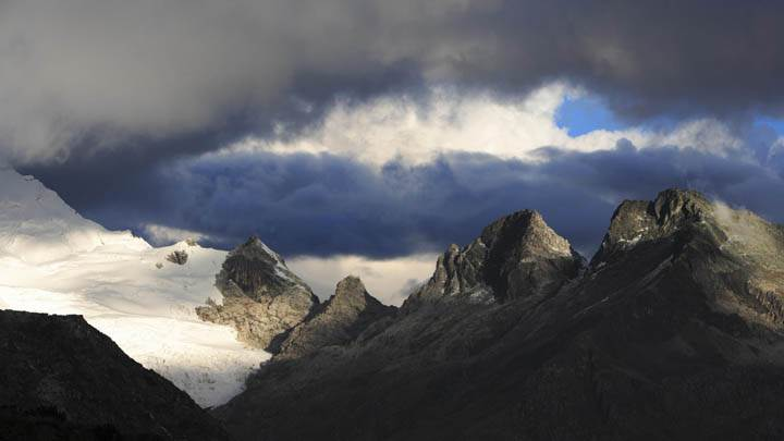 Yanapaccha Glacier and Chopicalqui Mountain