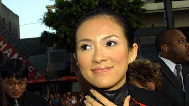 Zhang Ziyi Red Lips And Smiling